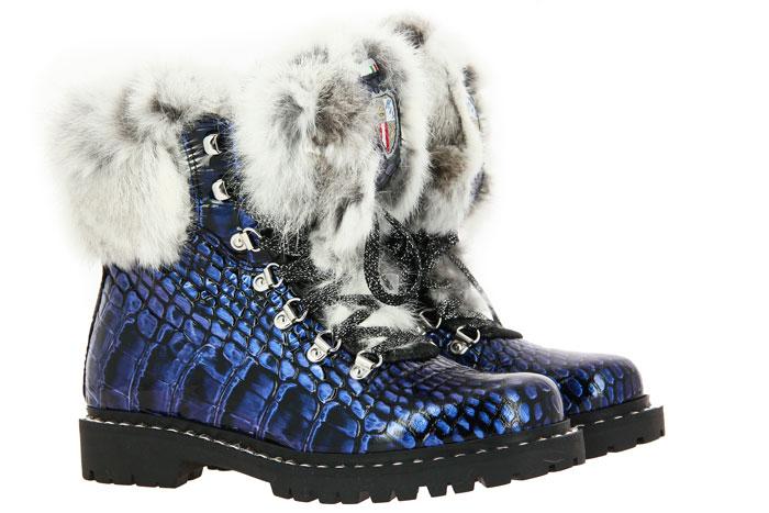 New Italia Shoes Stiefelette gefüttert REPTIL-OPTIK VEGAS (39)