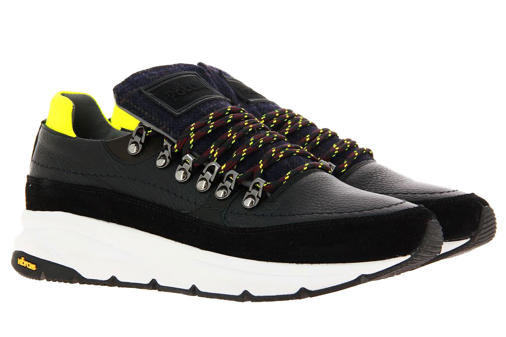 Pollini Sneaker AUGUST MIX NERO BLU GIALLO (45)