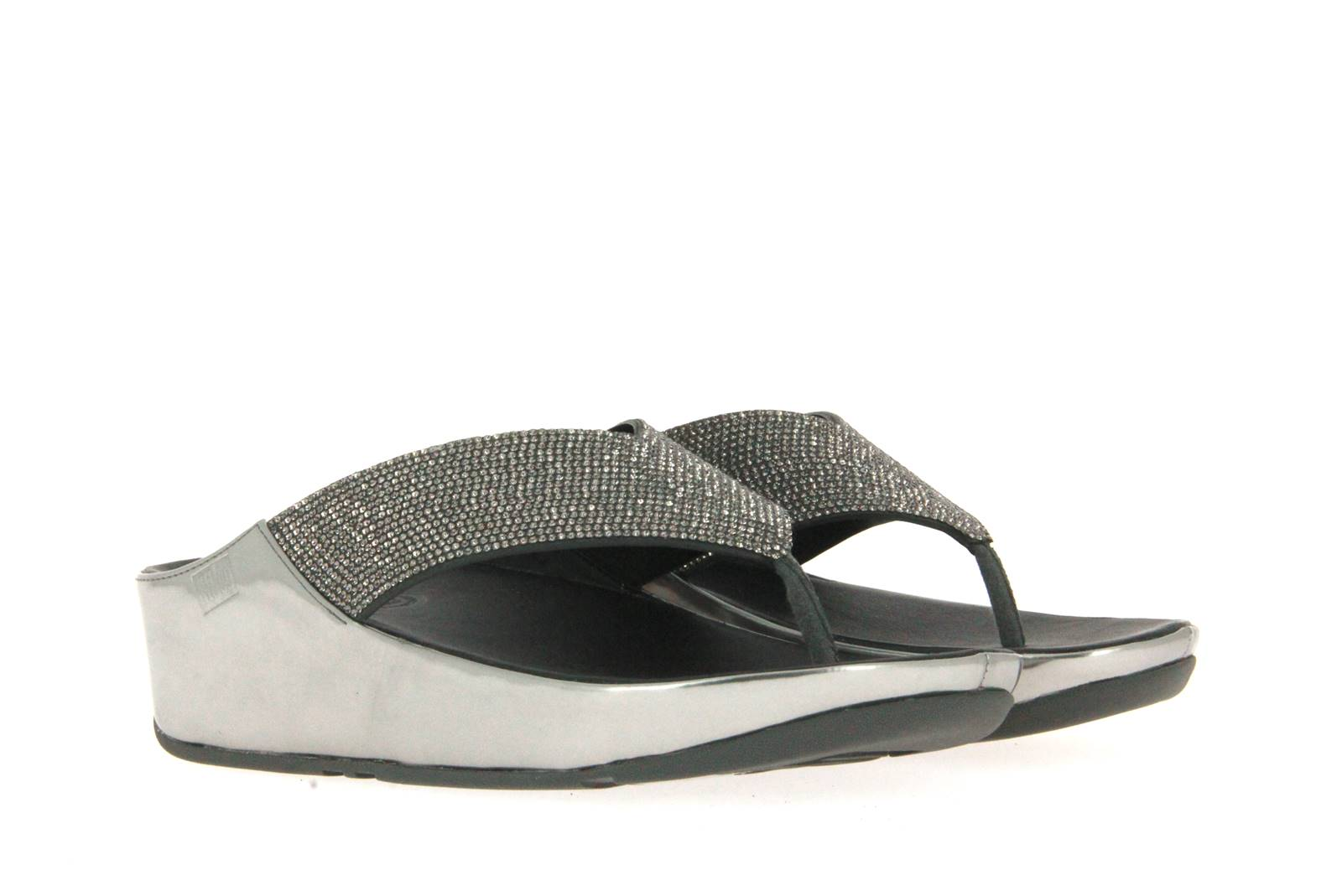Fitflop Pantolette PEWTER CRYSTAL (41)