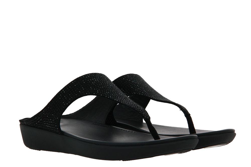 Fitflop Pantolette BANDA CRYSTALLED BLACK (42)