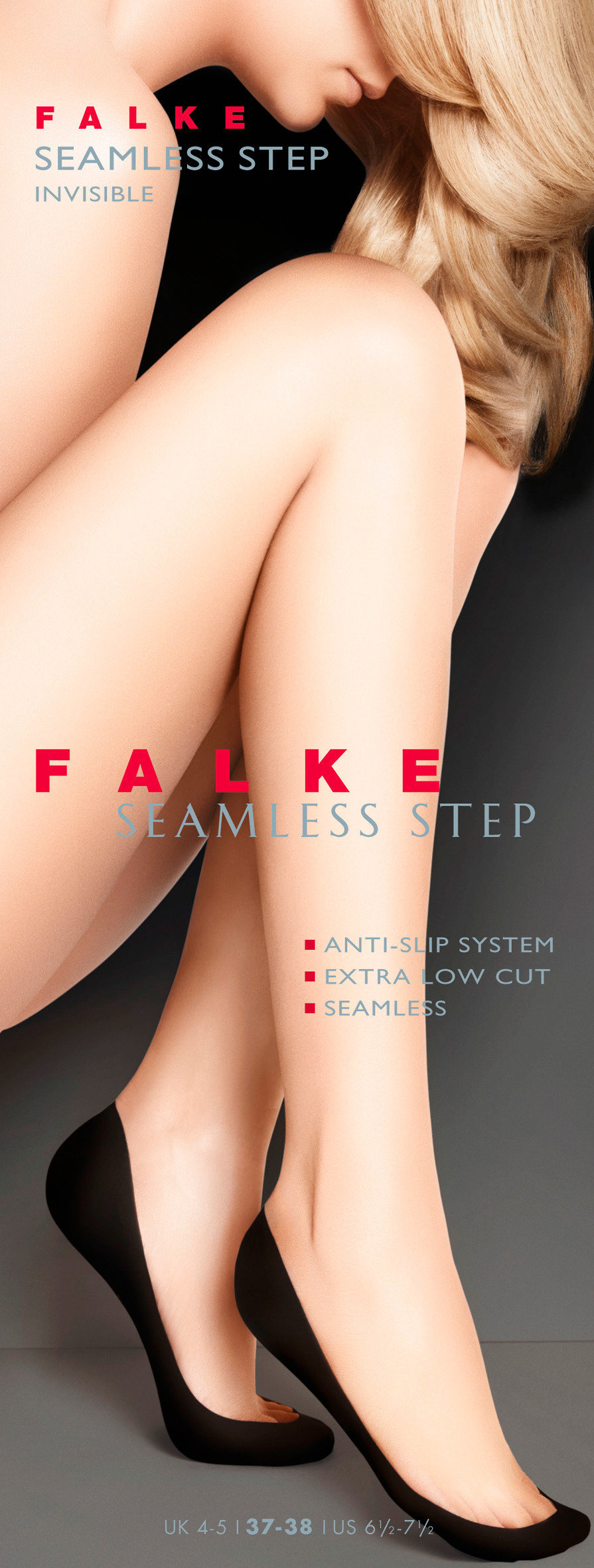 FALKE Seamless Step Damen Füßlinge BLACK