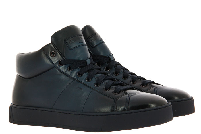 Santoni High Top Sneaker CALF BLU (44)