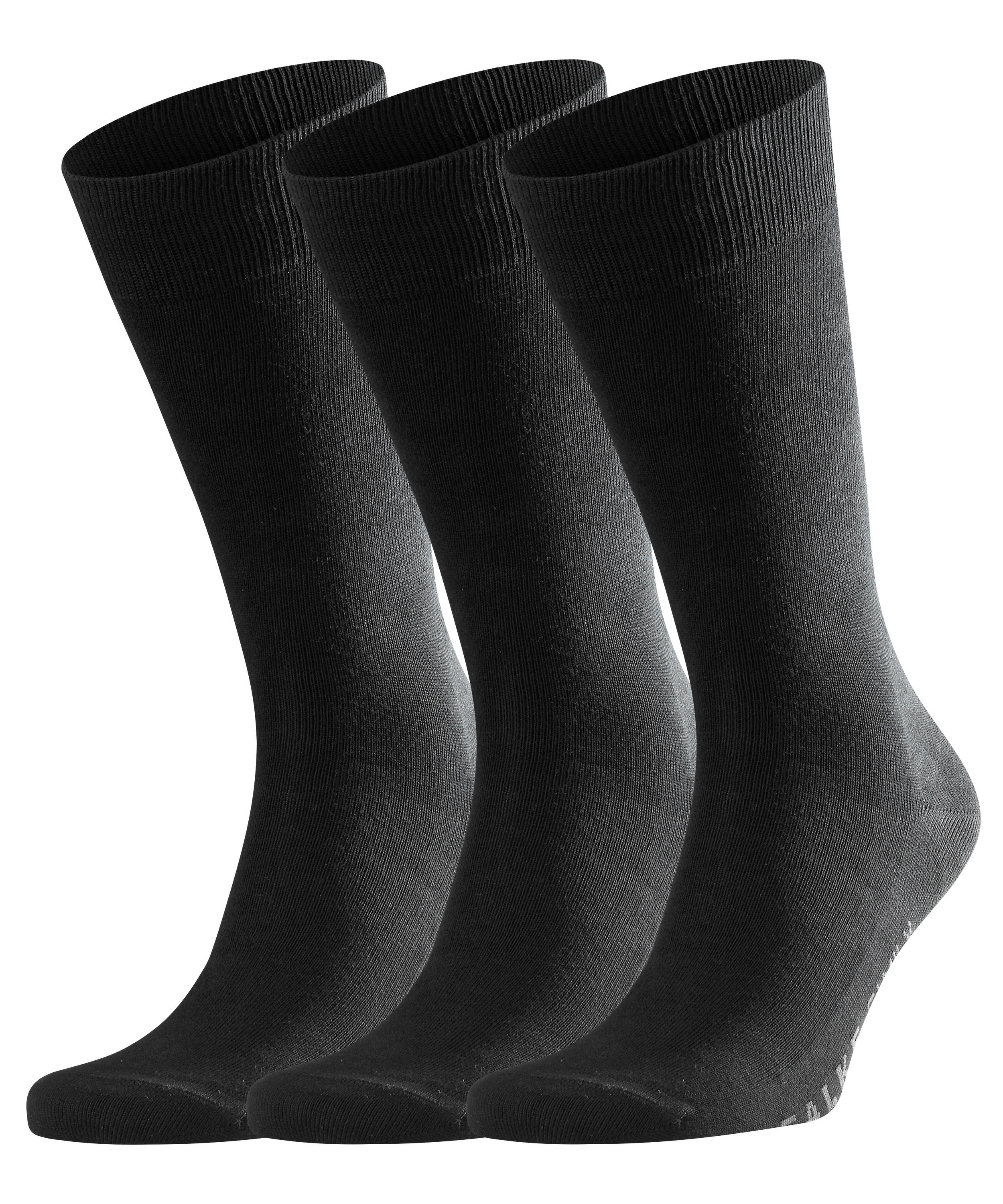 FALKE Family 3-Pack Herren Socken BLACK