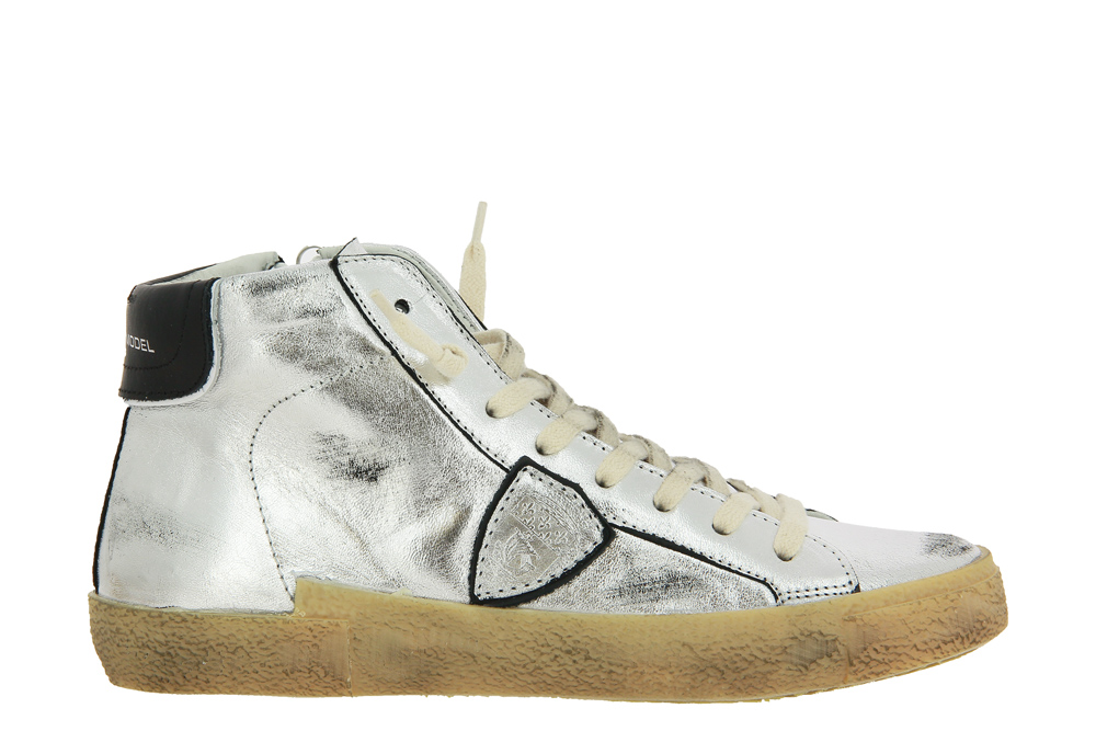Philippe Model Sneaker HIGH WOMAN VINTAGE POP ARGENT