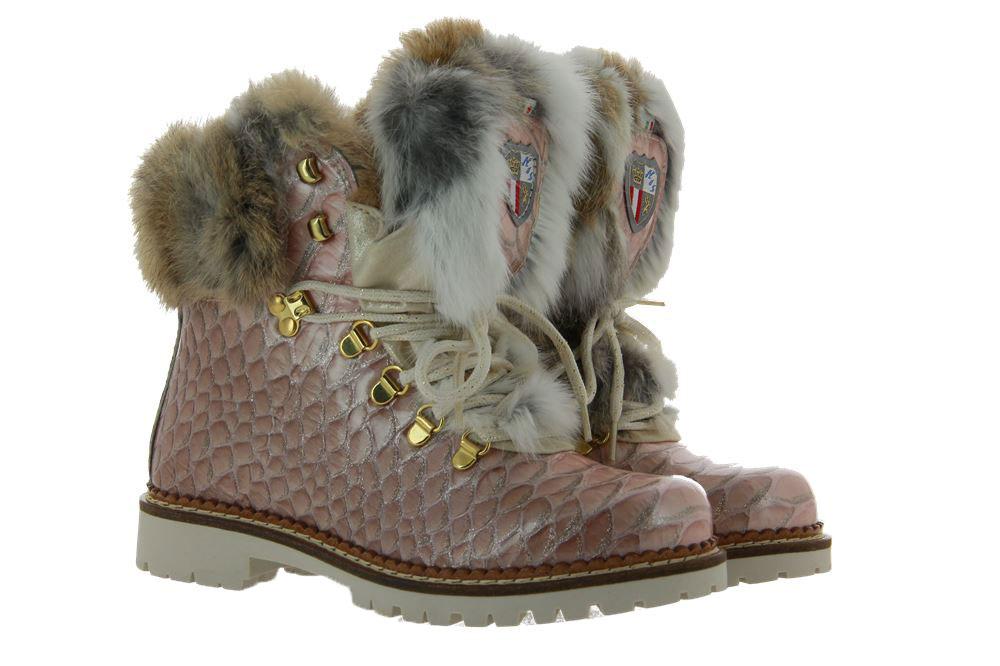 New Italia Shoes Stiefelette KANNINCHENFELL ROSE GLITTER (41)