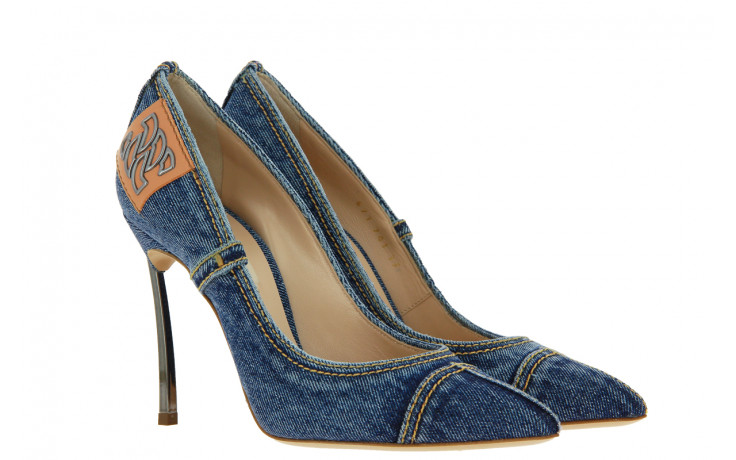 Casadei High Heels BLADE DENIM BLUE