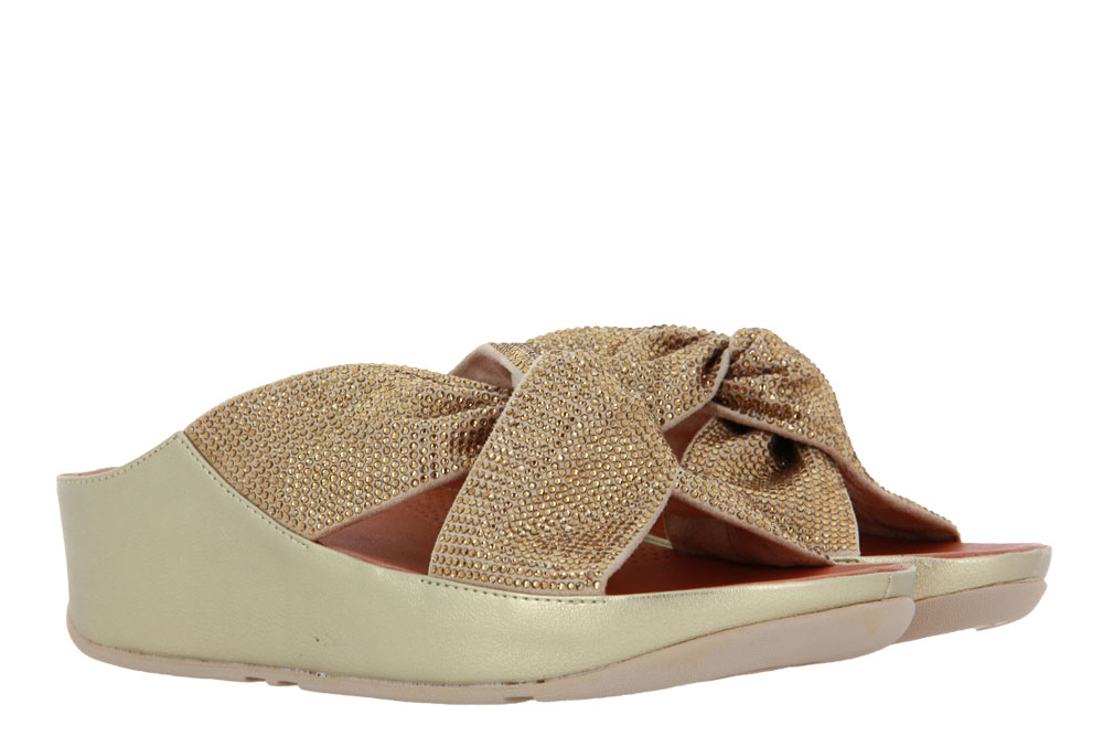 Fitflop Pantolette TWISS CRYSTAL SLIDE PLATINO  (42)