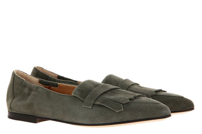 Pomme D'Or Slipper GRACE CAMOSCIO SAGE (39)
