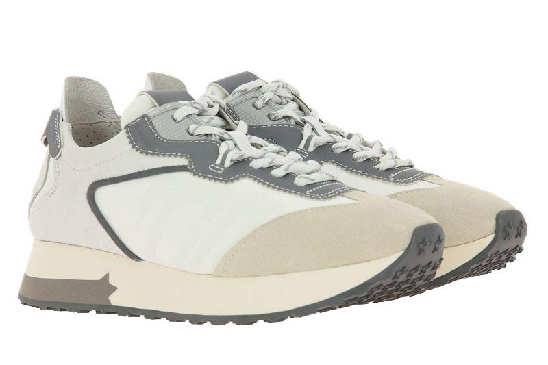 ASH Sneaker TIGER CALF SUEDE SALT WHITE SILVER (39)