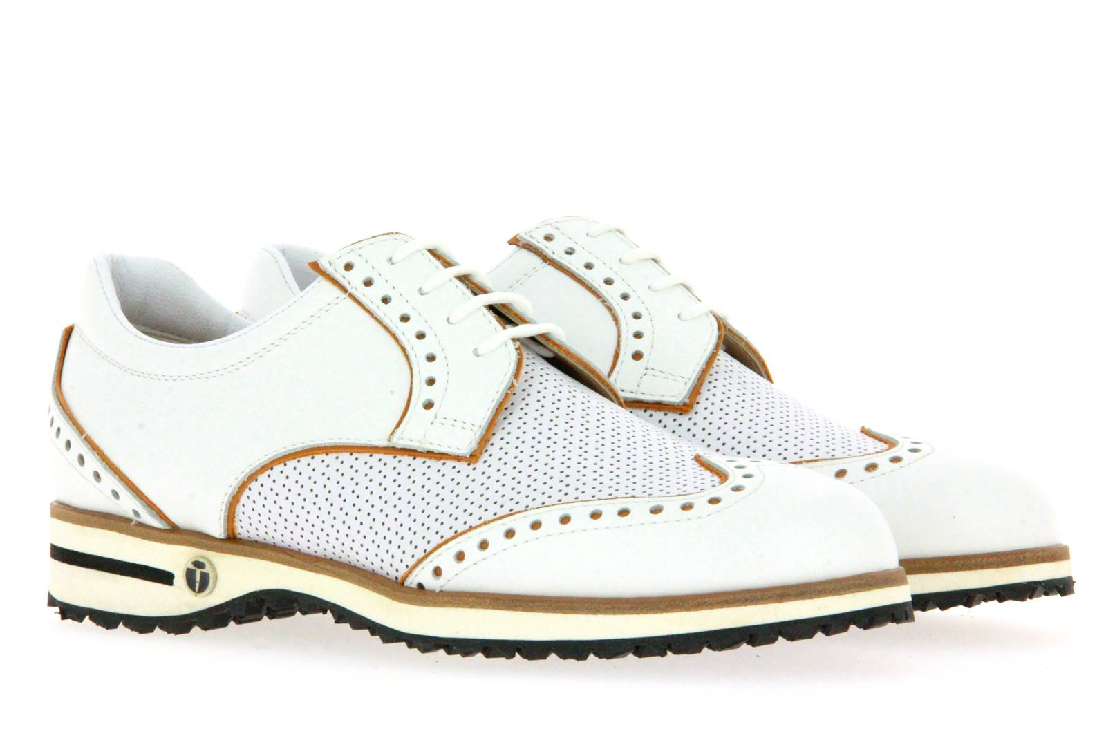 Tee Golf Shoes Damen- Golfschuh SALLY VITELLO GOLF BIANCO PAGLIA (40)