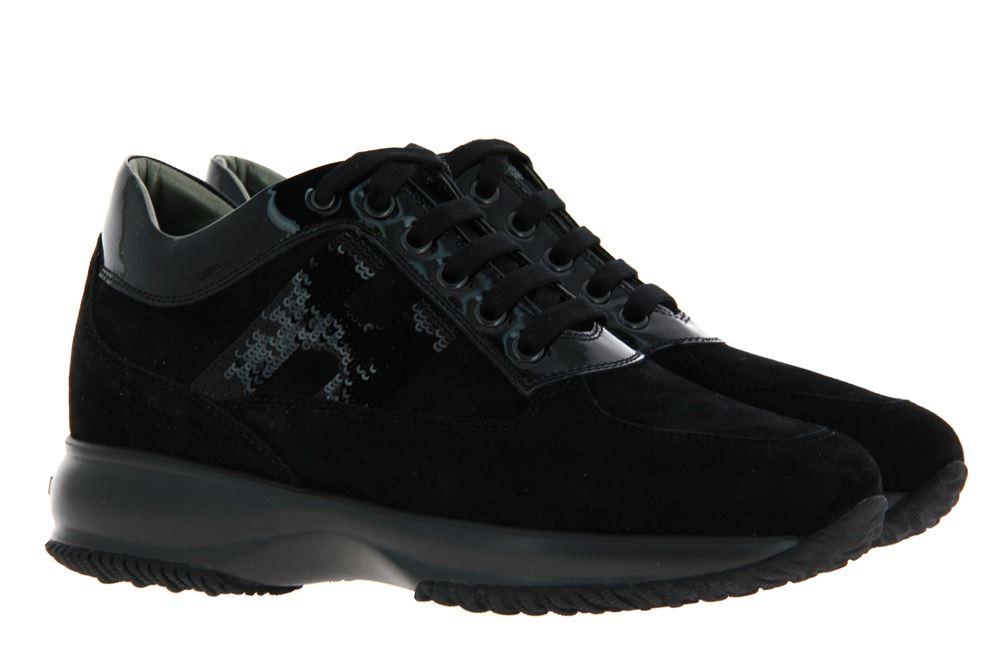 Hogan Sneaker INTERACTIVE MICROPAILLETS CASCATA NERO (40½)