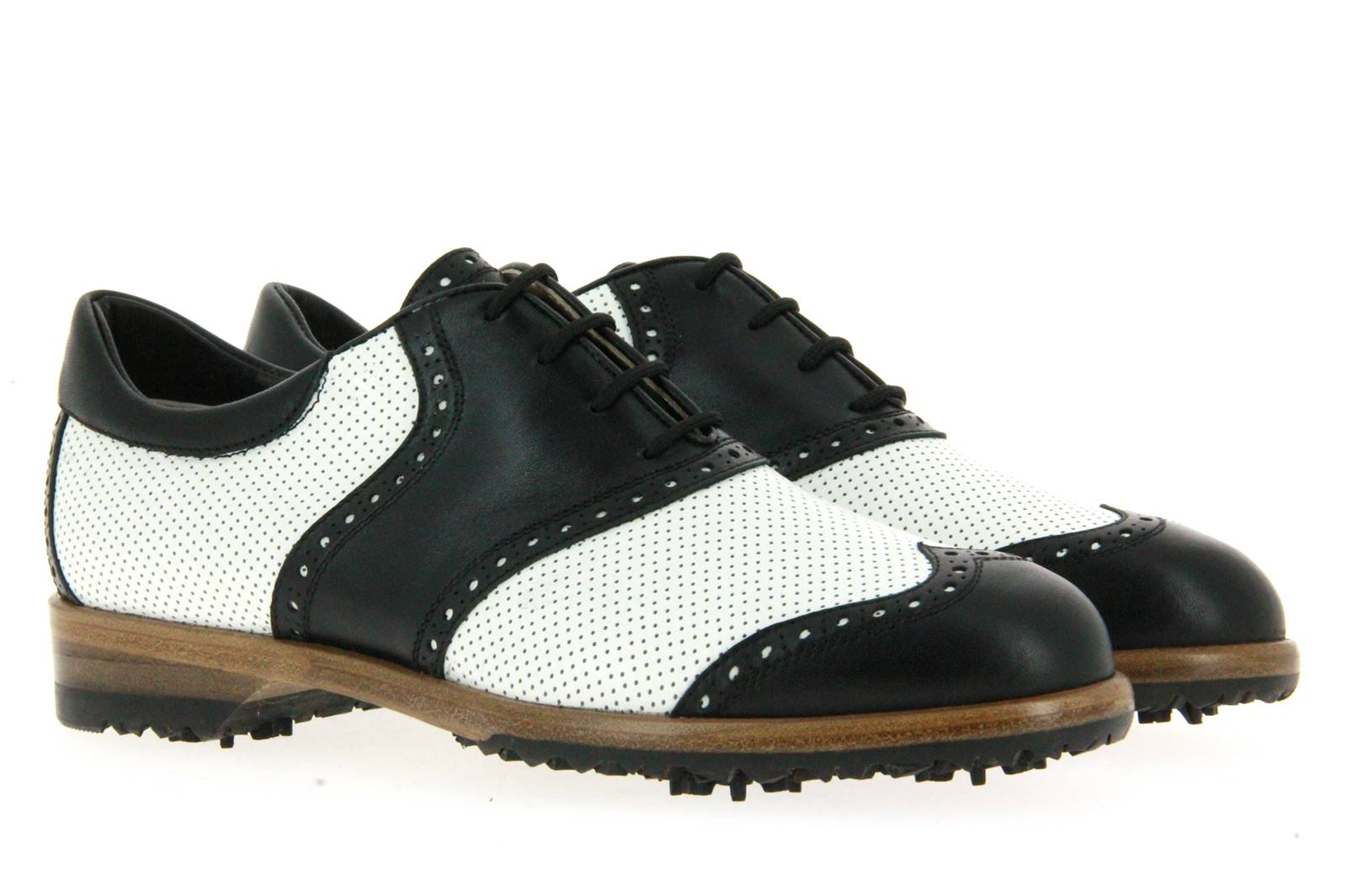 Tee Golf Shoes Damen- Golfschuh SUSY PERFORATO BIANCO NERO (40)