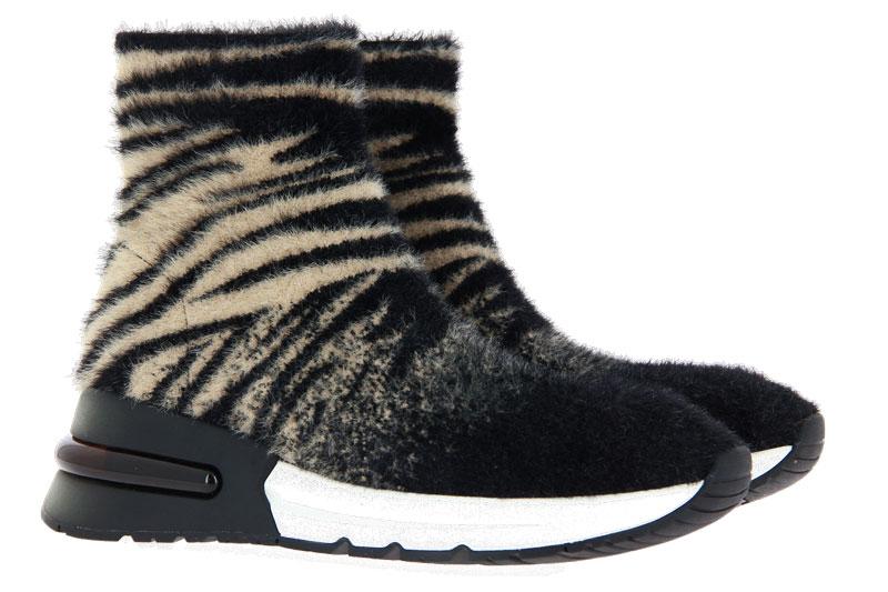 Ash Sock-Sneaker KING CREAM BLACK (37 )
