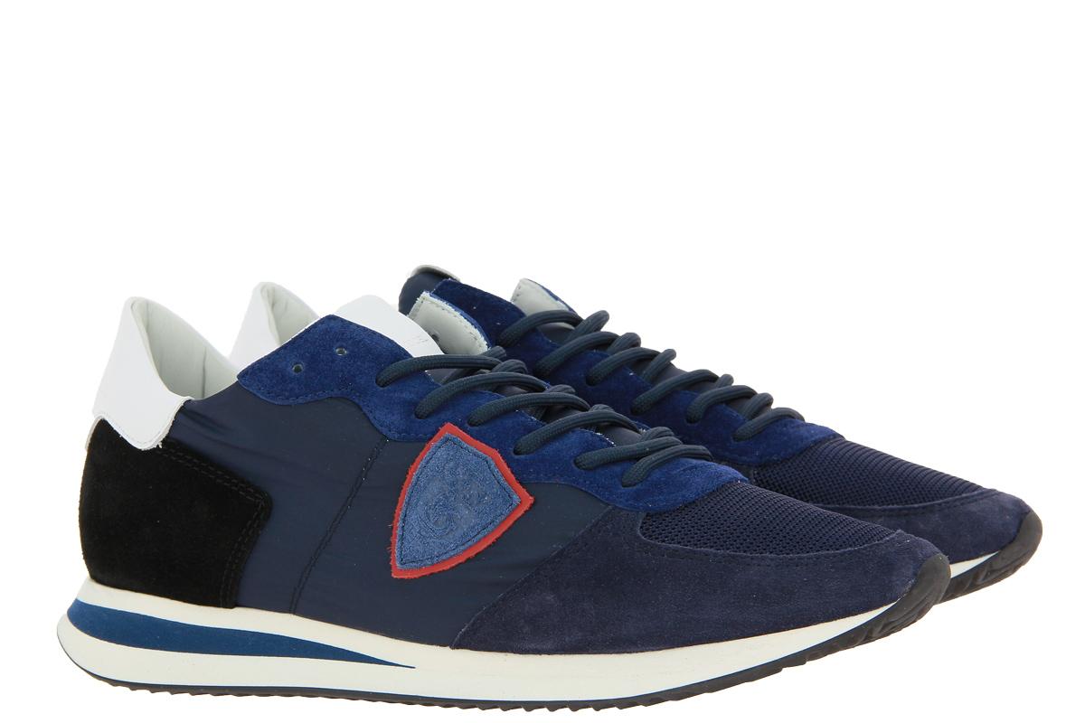 Philippe Model Sneaker LOW MAN MONDIAL BLEU