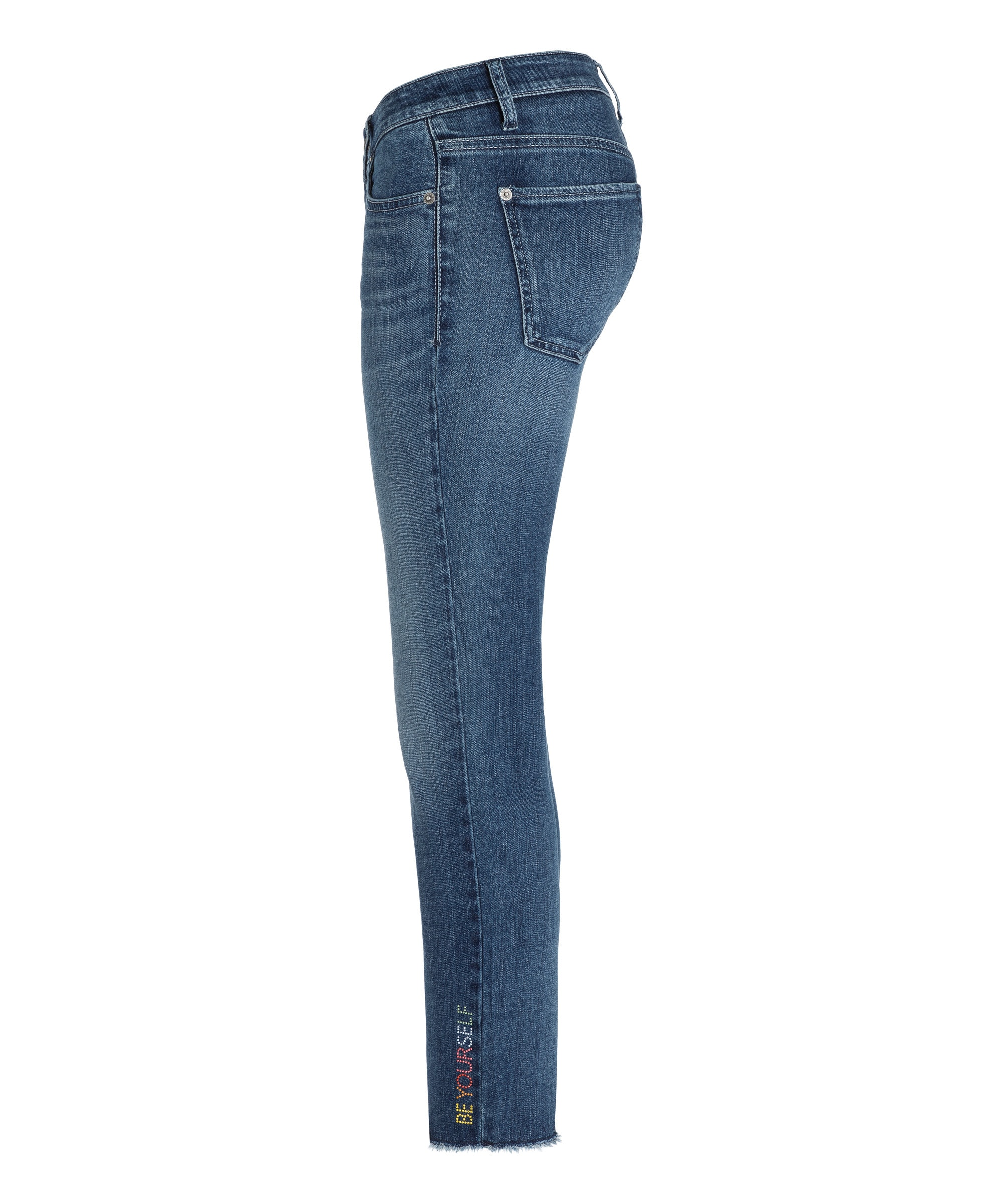 Cambio Jeans Liu short DARK PEPPY USED FRINGED HEM