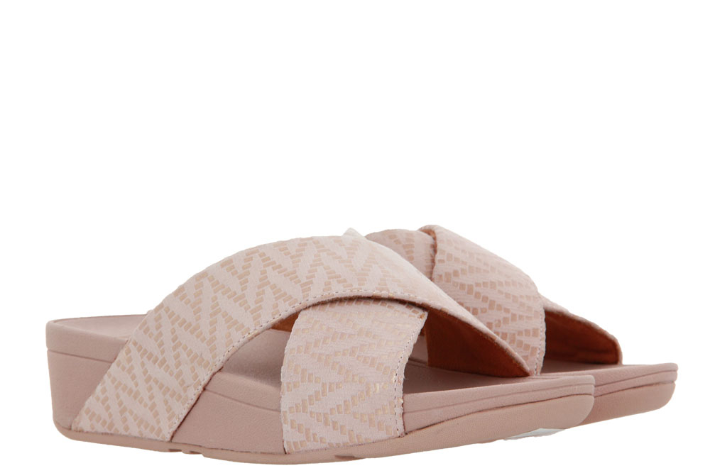 Fitflop Pantolette LULU CHEVRON SUEDE OYSTER PINK (41)