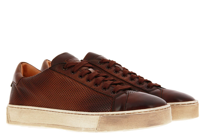 Santoni Sneaker LEATHER ANTIK BROWN (41½)