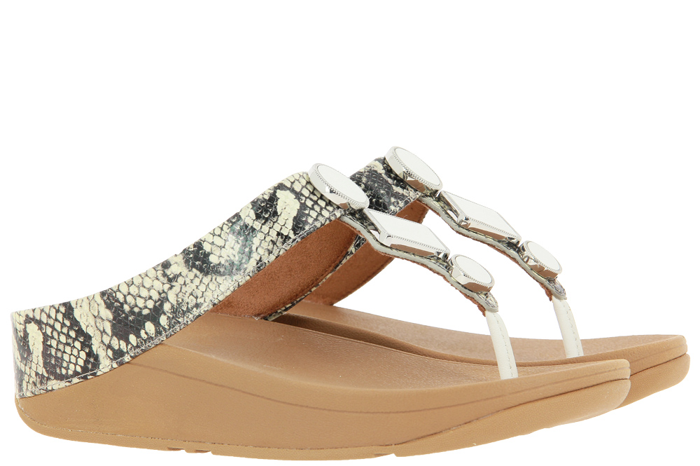 Fitflop Zehenstegsandale LEIA EXOTIC SNAKE MIX