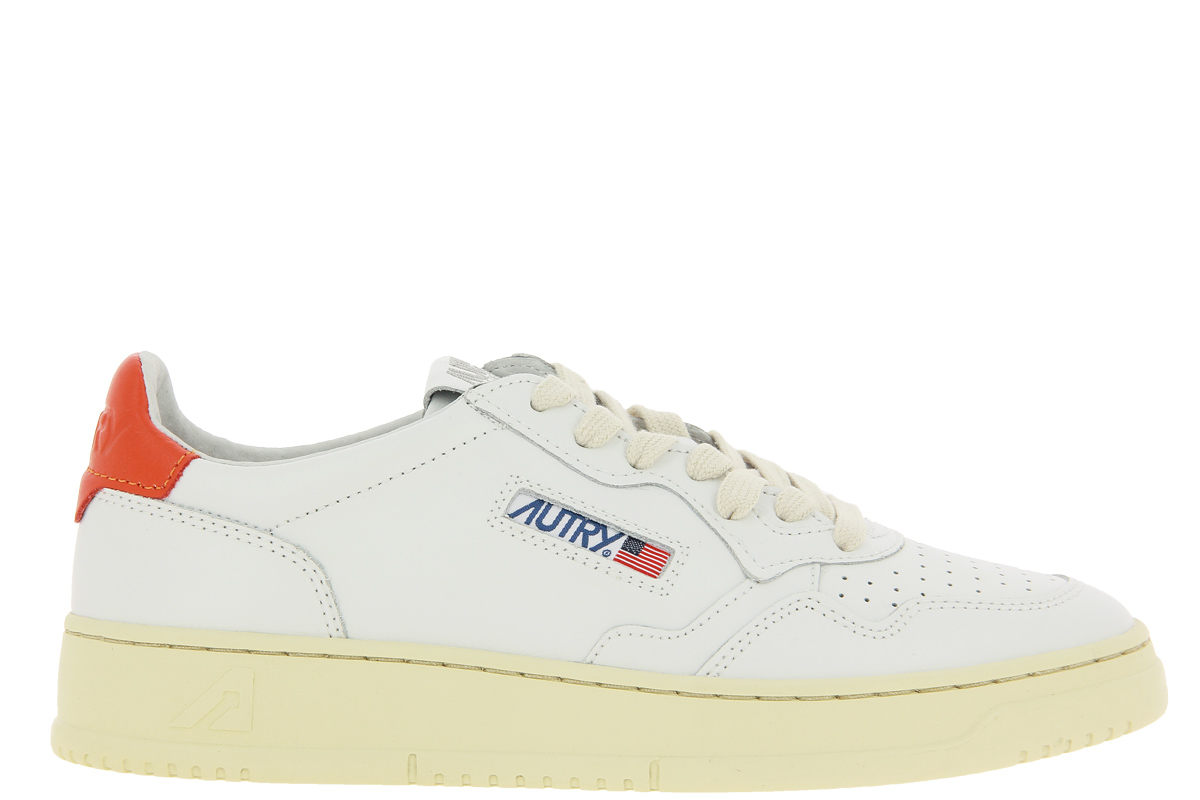 Autry Sneaker LOW MAN LEATHER WHITE ORANGE