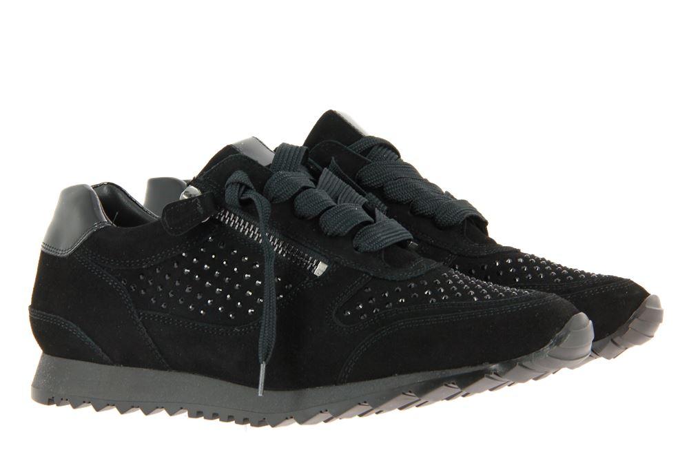 Hassia Sneaker BARCELONA H-WEITE SAMTZIEGE BLACK (38)