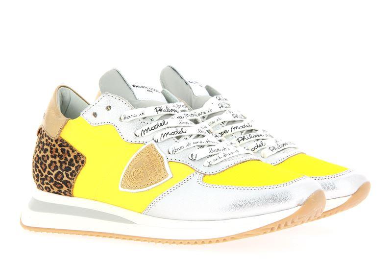 Philippe Model Sneaker TROPEZ MONDIAL LEO JAUNE ARGENT (36)