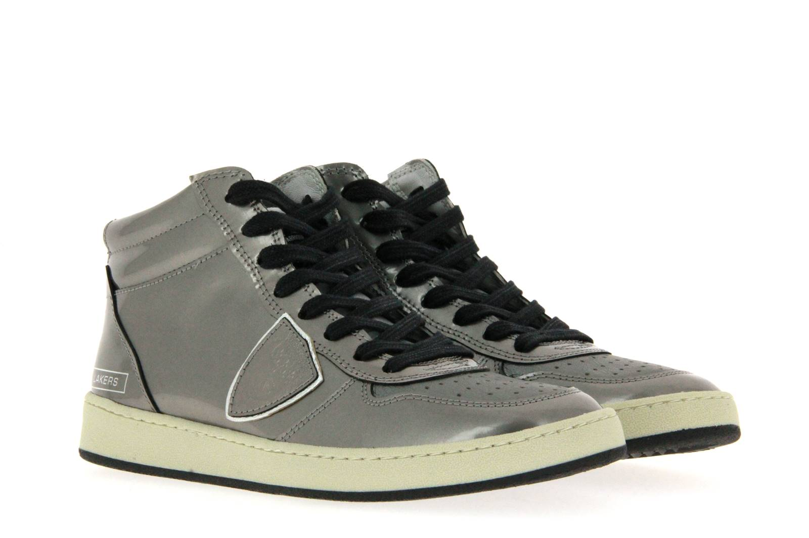 Philippe Model Sneaker LAKERS HIGH DONNA VERNISE SILVER (37 )