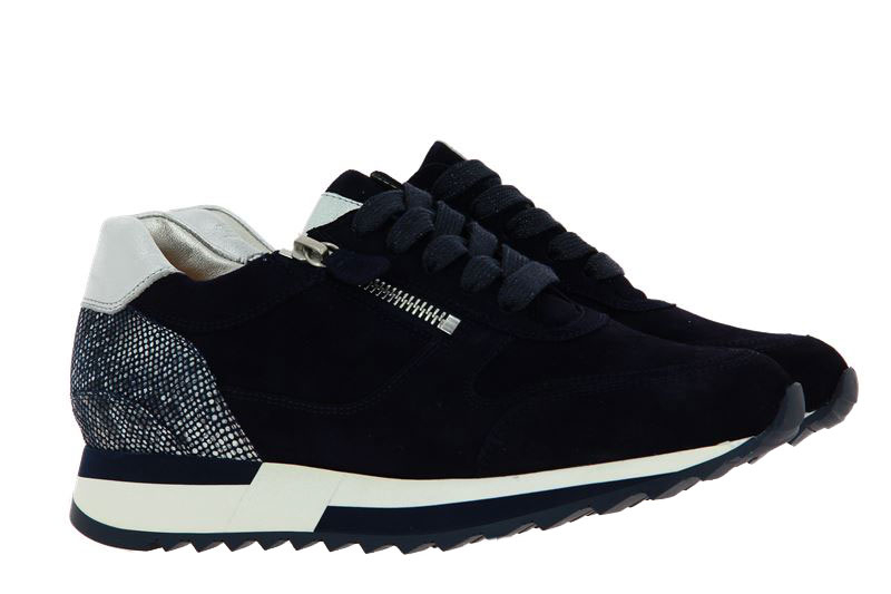 Hassia Sneaker MADRID K-WEITE SAMTZIEGE BLUE SILVER (39)