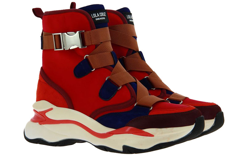 Lola Cruz High Top Sneaker ROJO RED (40)
