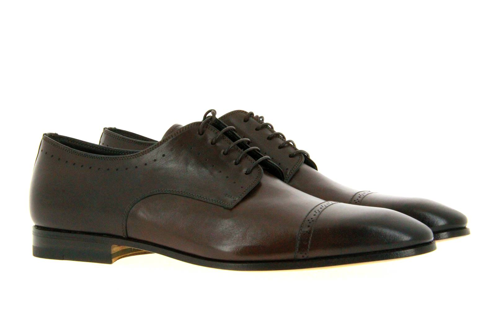 Santoni Schnürer LEATHER DARK BROWN (41½)