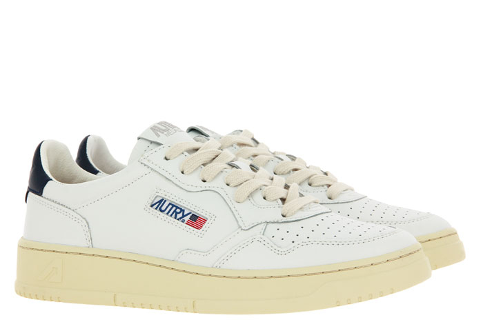 Autry Sneaker LOW MAN LEATHER WHITE/BLUE (41)