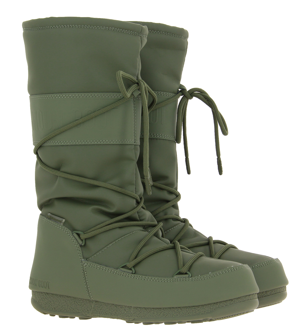 Moon Boots Stiefel HIGH RUBBER WP KHAKI