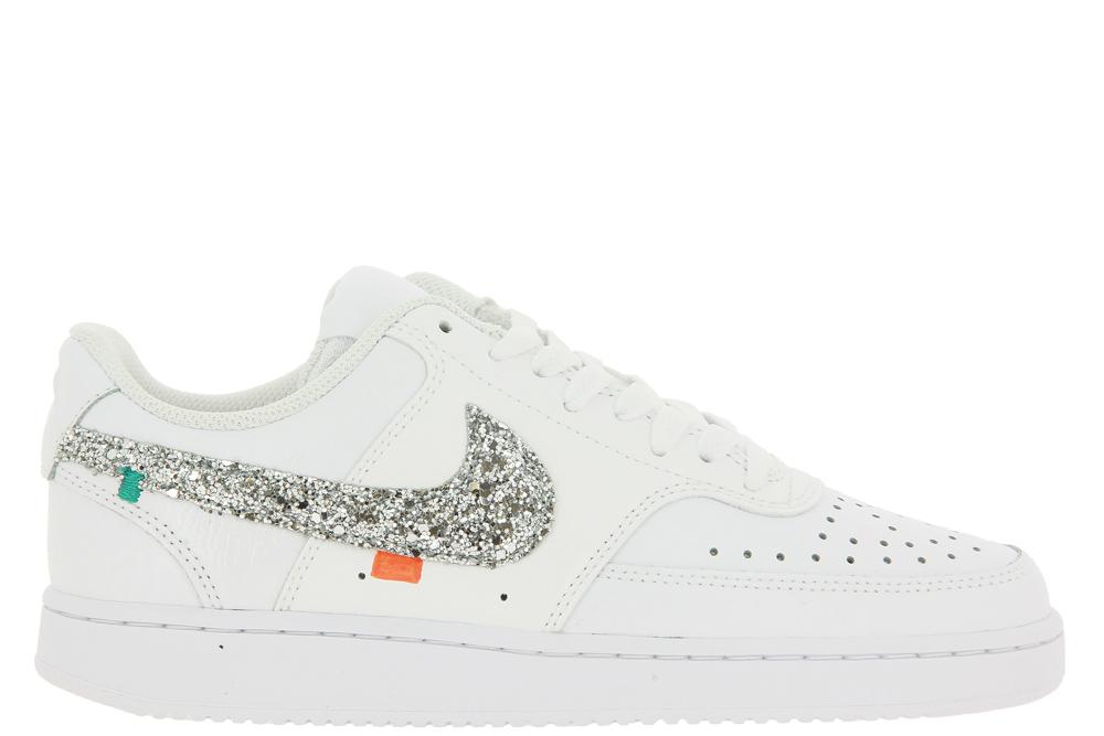 Nike by BallodaSola Sneaker COURT VISION GLITTER SILVER