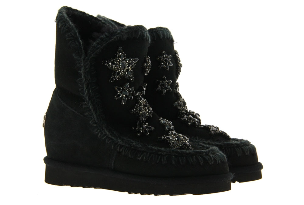 mou Boots INNER WEDGE SHORT CRYSTAL STARS (36)