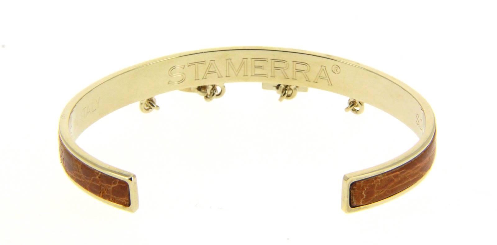 Stamerra Armband VERO GENUINE CROCO GOLD MIELE