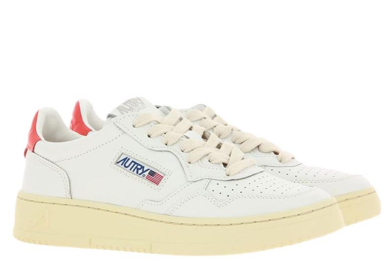 Autry Sneaker LOW WOMAN LEATHER WHITE/ORANGE (36)