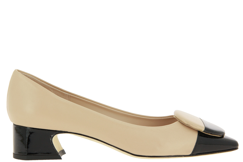 Status Pumps IMPERO CREAM VERNICE NERO