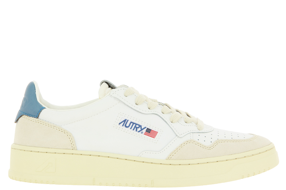 Autry Sneaker LOW MAN SUEDE NYLON WHITE BLUE