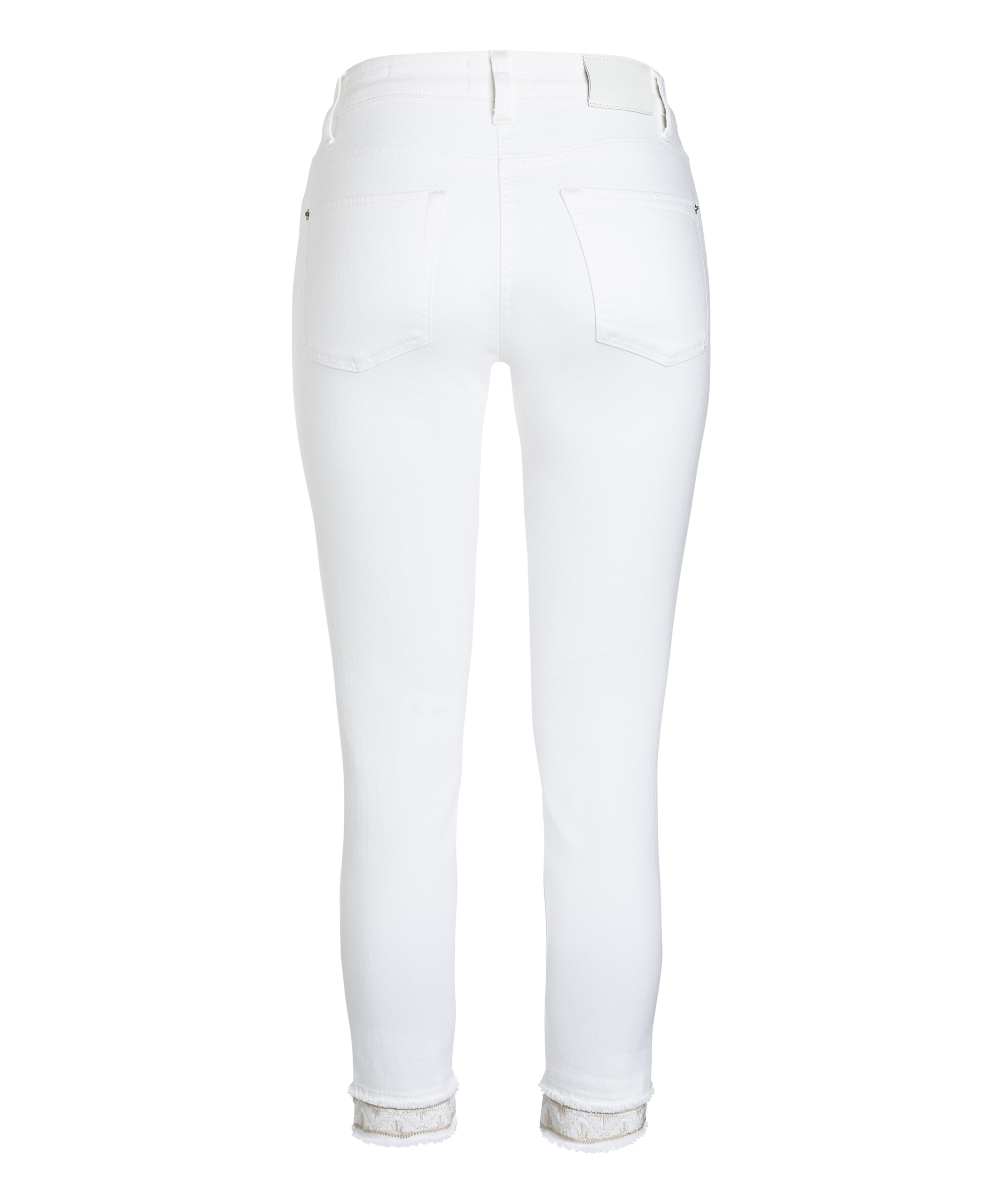 Cambio Jeans Tess straight short PURE WHITE