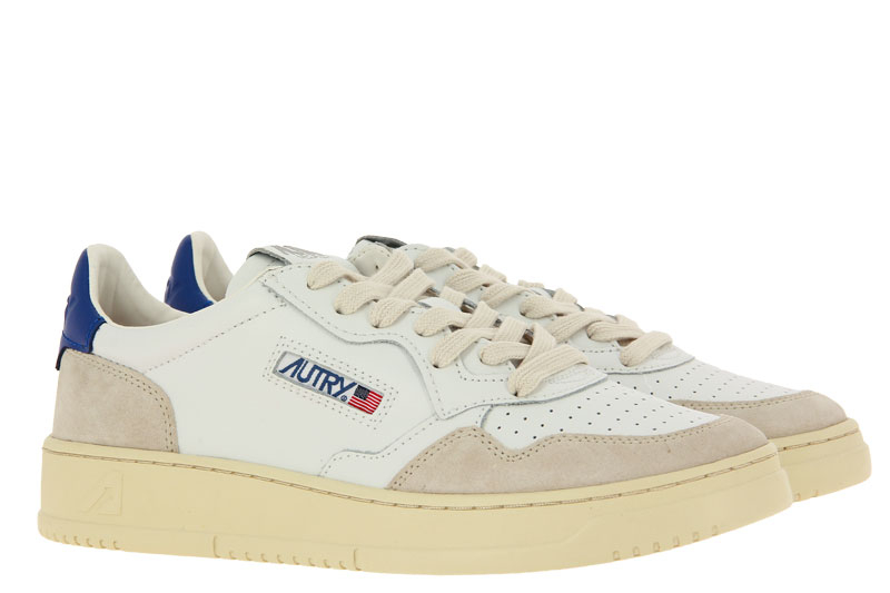 Autry Sneaker LOW MAN LEATHER SUEDE WHITE NAVY (42)