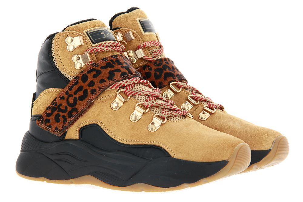 Scotch & Soda High Top Sneaker CELEST SUEDE LEATHER CAMEL/BLACK (40)