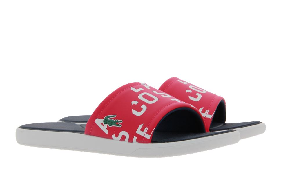 Lacoste Pantolette SLIDE RED SYNTHETIC (42)