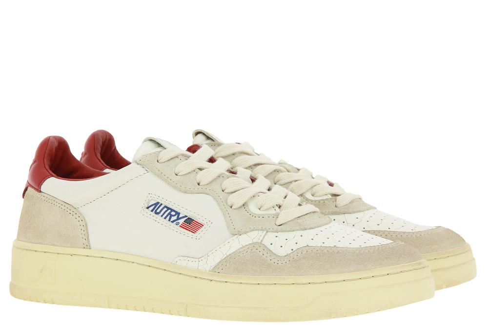 Autry Sneaker MEDALIST WHITE BORDEAUX CRACKLE