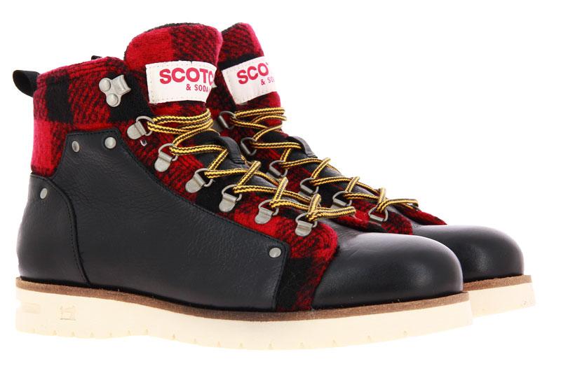 Scotch & Soda Stiefelette LEVANT LEATHER BLACK RED (42)
