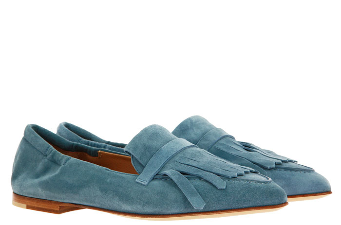Pomme D'Or Slipper CAMOSCIO STONE BLUE (40½)