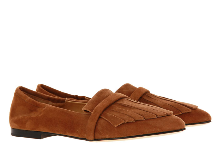 Pomme D'Or Slipper GRACE CAMOSCIO TOFFEE (38)