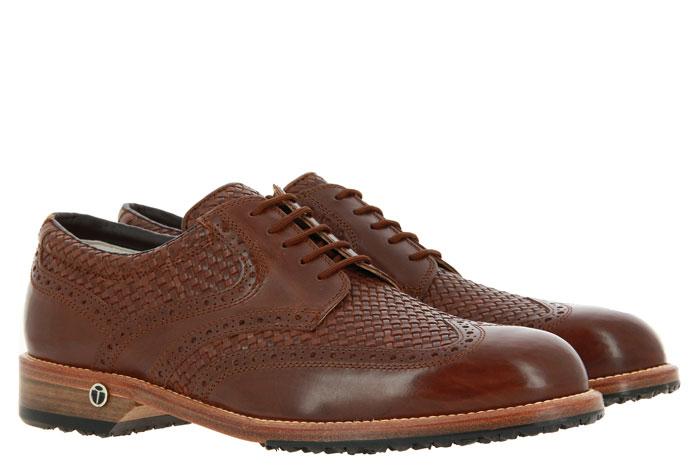 Tee Golf Shoes Herren- Golfschuh TOMMY SALINAS CUOIO (42)