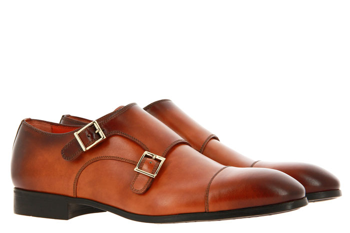 Santoni Monk LEAHTER ANTIK BROWN (42½)