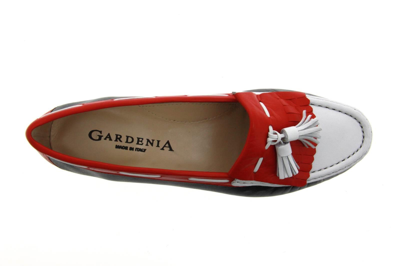 Gardenia Mokassin NAPPA NOTTE BIANCO ROSSO (41)
