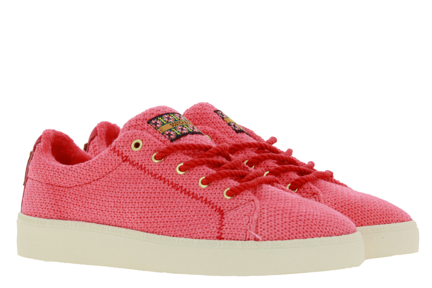 Scotch & Soda Sneaker LAURITE KNITTED CANVAS CORAL RED (38)