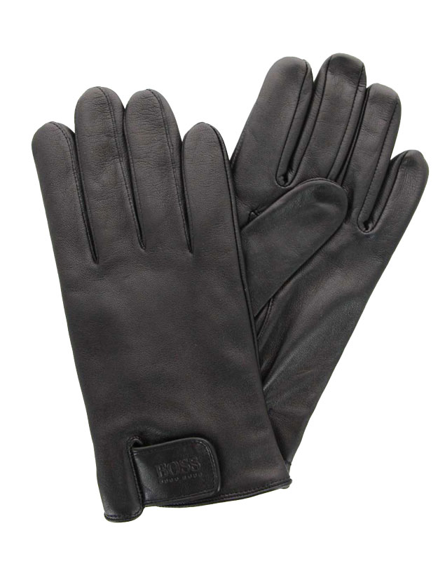 Hugo Boss Handschuhe HELKOP LAMMLEDER SCHWARZ (100)